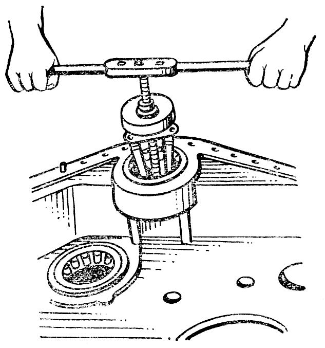 Выпрессовка наружного кольца подшипника
