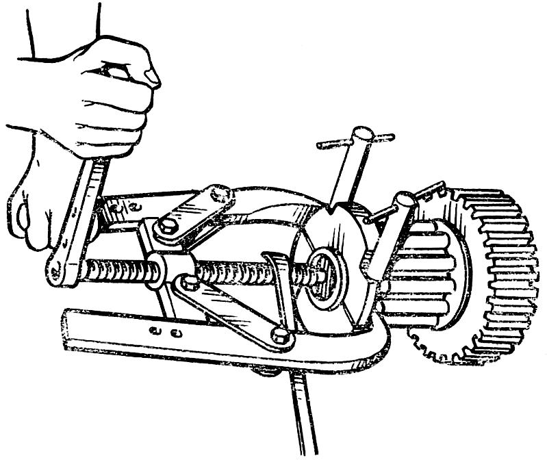 Спрессовка внутренних колец подшипников
