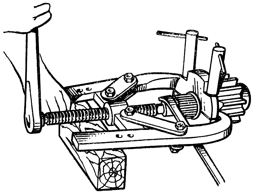 Выпрессовка внутренних колец подшипников