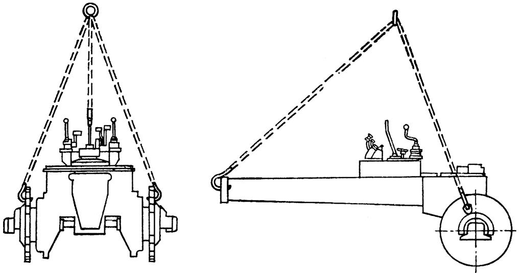 Схема строповки для подъема