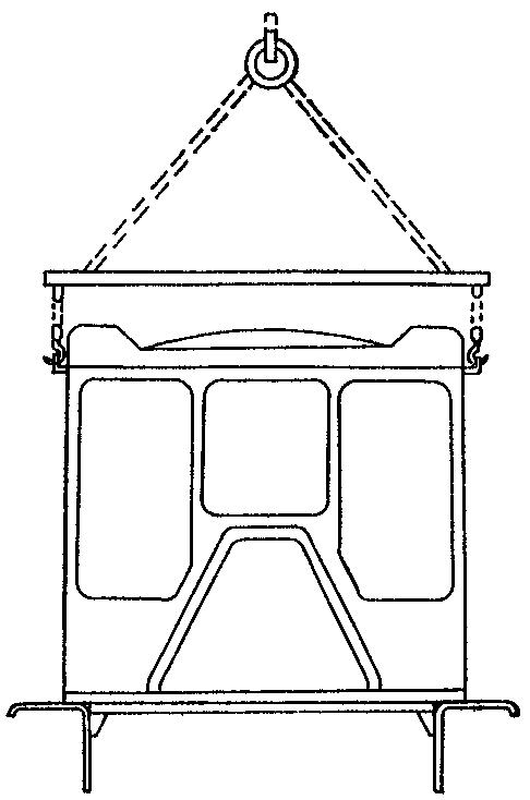Схема строповки кабины