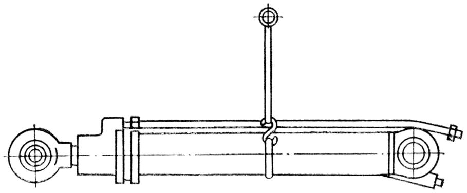 Схема строповки гидроцилиндра