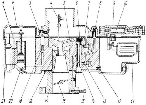 Схема карбюратора К 125Л