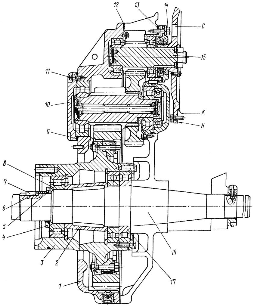 Бортовой редуктор Т 130 Т 170