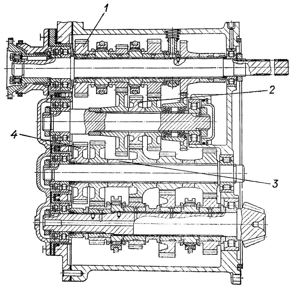 Схема т 170 схема переключения коробки передач